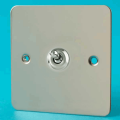 Varilight 1 Gang 10A 1 or 2 Way Dolly Toggle Light Switch Ultra Flat Polished Chrome XFCT1